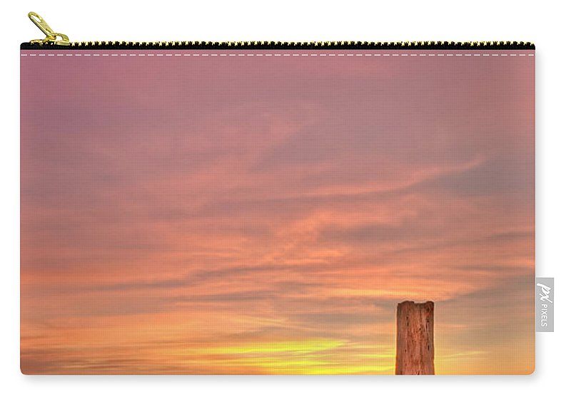 Sunset Carry-all Pouch featuring the photograph All Aglow by Evelina Kremsdorf