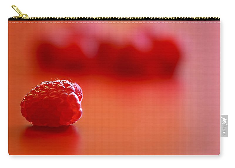 Red Carry-all Pouch featuring the photograph All Alone by Evelina Kremsdorf