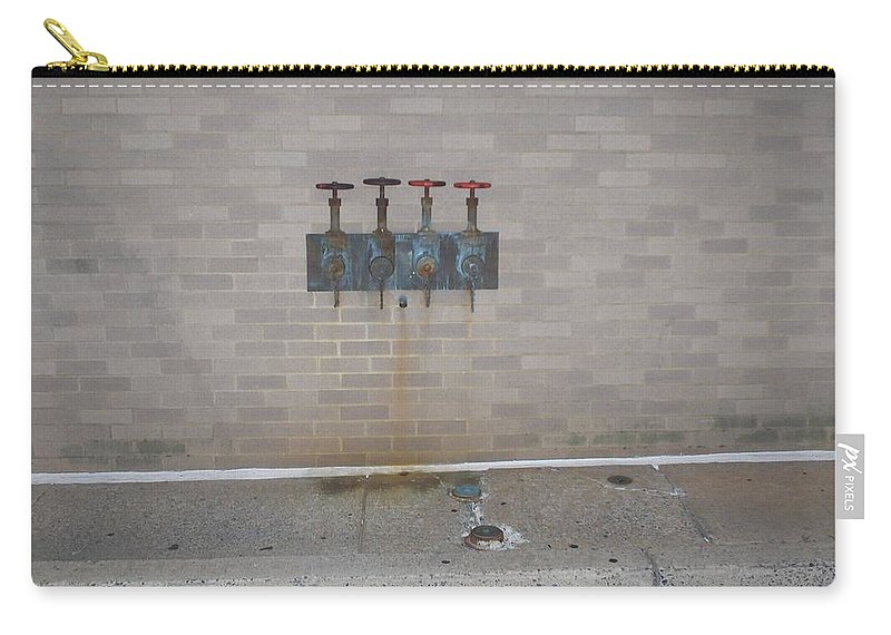 Photograph Carry-all Pouch featuring the photograph All Alone Four Pipes by Thomas Valentine