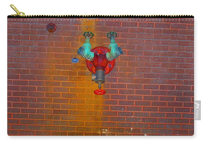 Photograph Carry-all Pouch featuring the photograph All Alone Red Pipe by Thomas Valentine