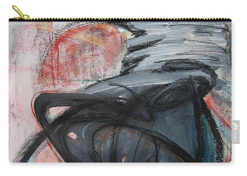 Abstract Paintings Paintings Carry-all Pouch featuring the painting All Alone by Seon-Jeong Kim