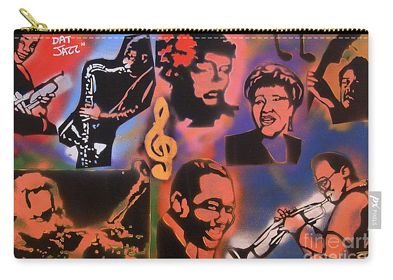 Jazz Carry-all Pouch featuring the painting All Dat Jazz by Tony B Conscious