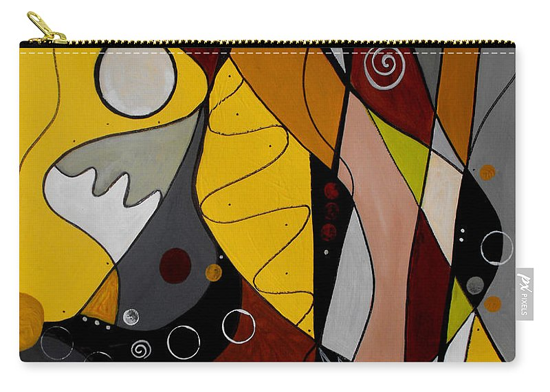 Abstract Carry-all Pouch featuring the painting All Hands On Deck by Ruth Palmer