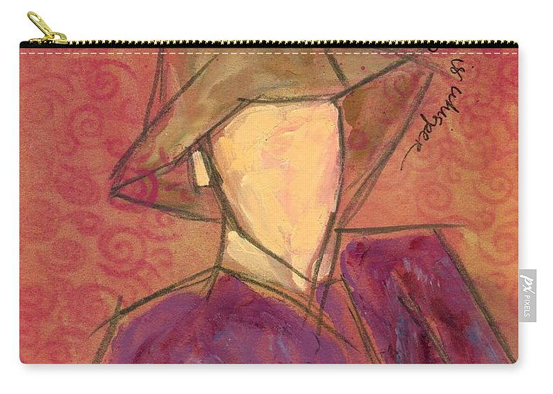 Acrylic Carry-all Pouch featuring the painting all I could do is whisper by Hew Wilson