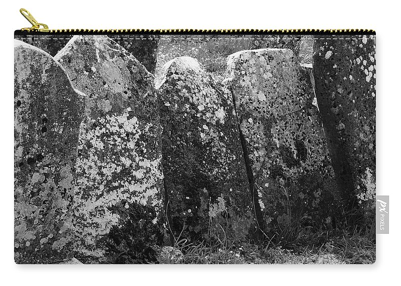 Ireland Carry-all Pouch featuring the photograph All In A Row At Fuerty Cemetery Roscommon Ireland by Teresa Mucha