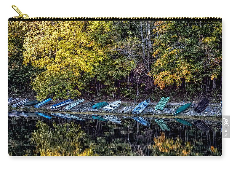 Autumn Carry-all Pouch featuring the photograph All In A Row by Scott Bryan