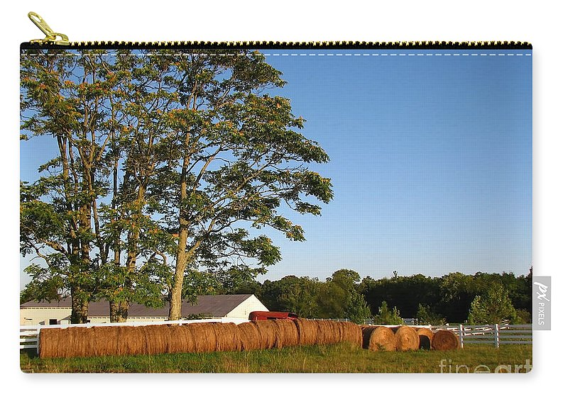 Landscape Carry-all Pouch featuring the photograph All In A Row by Todd A Blanchard