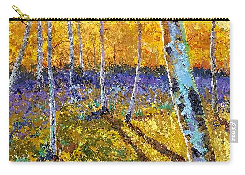 Aspen Carry-all Pouch featuring the painting All In The Golden Afternoon by Hunter Jay