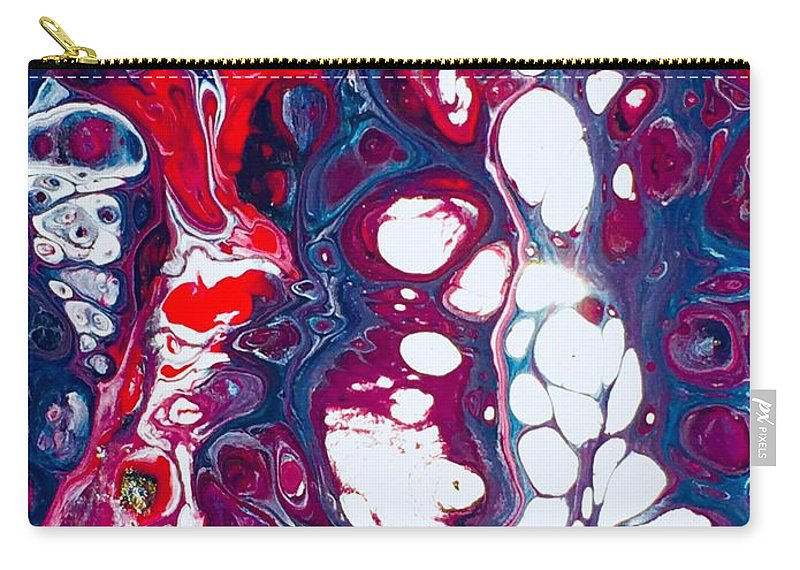 Acrylic Carry-all Pouch featuring the mixed media All Lit Up by B R Wiatrek