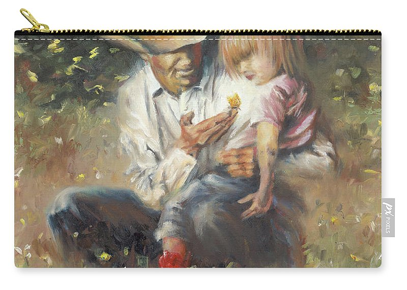 Children Carry-all Pouch featuring the painting All Of Life's Little Wonders by Mia DeLode