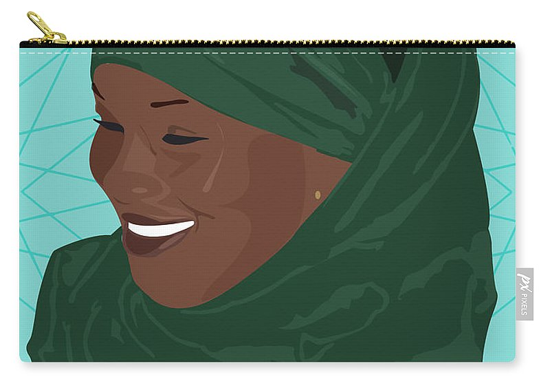 Muslim Carry-all Pouch featuring the digital art All Smiles by Scheme Of Things
