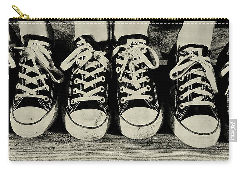 Forever Carry-all Pouch featuring the photograph All Star Identity Chucks by JAMART Photography