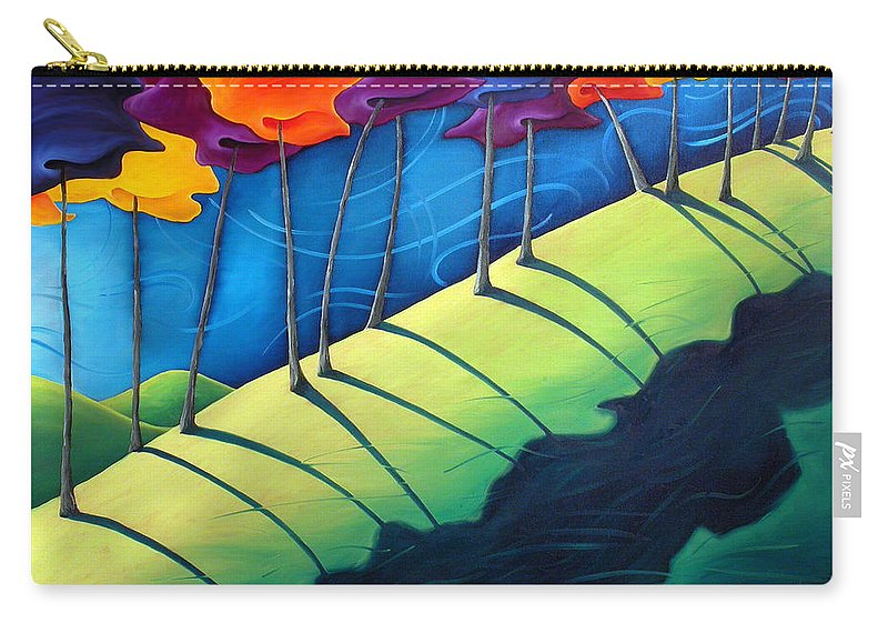 Landscape Carry-all Pouch featuring the painting All The Same In The End by Richard Hoedl