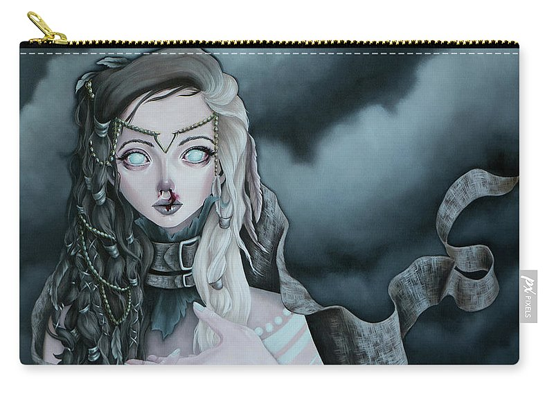 Storm Carry-all Pouch featuring the painting All This Black Magic by Camille Singer