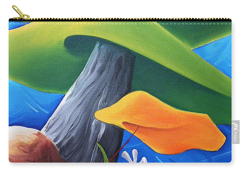 Landscape Carry-all Pouch featuring the painting All Under One Roof by Richard Hoedl