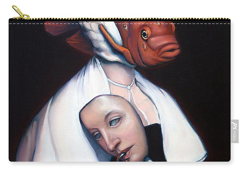Fish Carry-all Pouch featuring the painting Allegory Of Fishing by Patrick Anthony Pierson