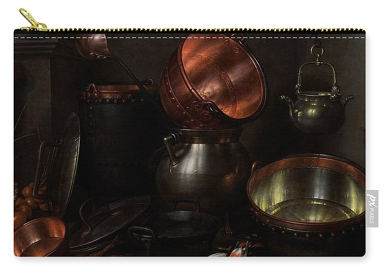 Still Carry-all Pouch featuring the painting Allegory Of The Four Elements by Cornelis Jacobsz Delff