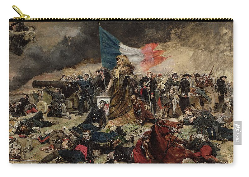 Allegory Carry-all Pouch featuring the painting Allegory Of The Siege Of Paris by Jean Louis Ernest Meissonier
