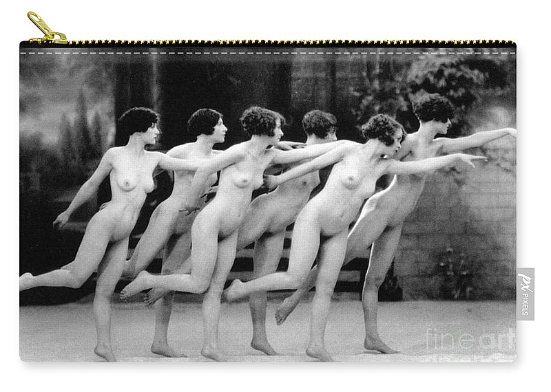1920 Carry-all Pouch featuring the photograph Allen Chorus Line, 1920 - To License For Professional Use Visit Granger.com by Granger