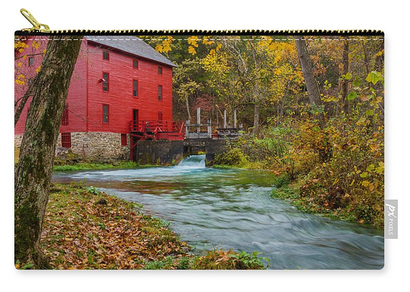 Alley Carry-all Pouch featuring the photograph Alley Mill In Autumn by Jennifer White