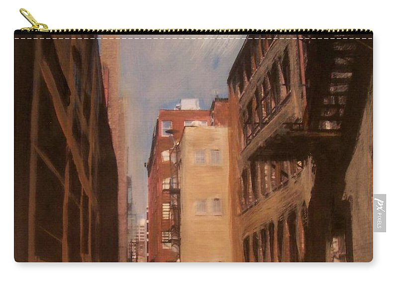 Alley Carry-all Pouch featuring the mixed media Alley Series 1 by Anita Burgermeister