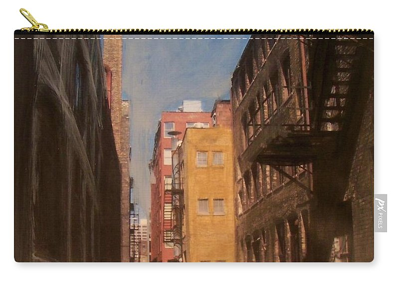 Alley Carry-all Pouch featuring the mixed media Alley Series 2 by Anita Burgermeister