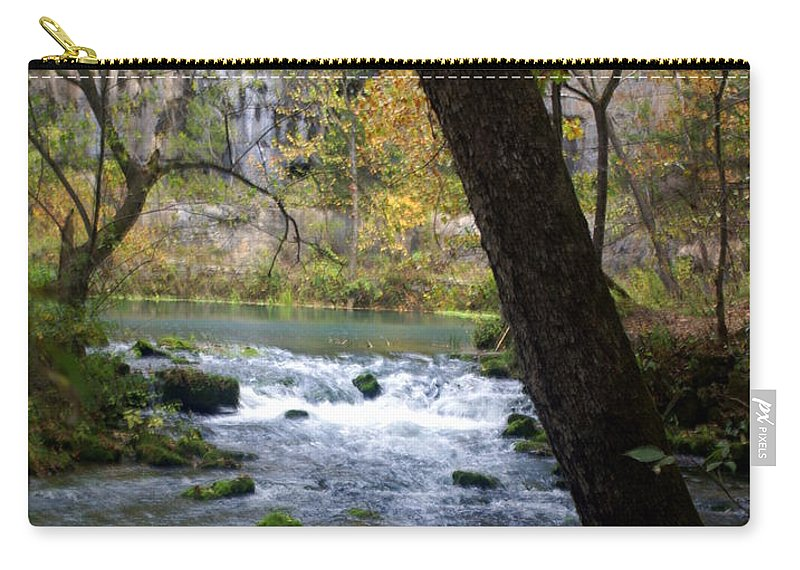 Ozarks Carry-all Pouch featuring the photograph Alley Spring Branch 2 by Marty Koch