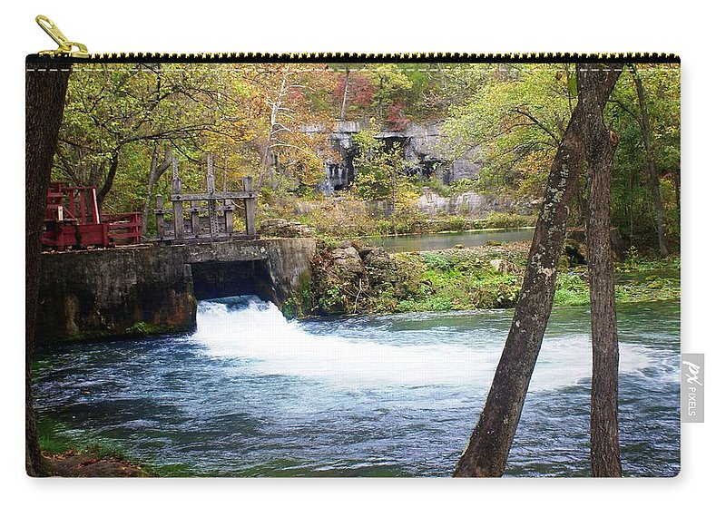 Alley Spring Carry-all Pouch featuring the photograph Alley Spring by Marty Koch