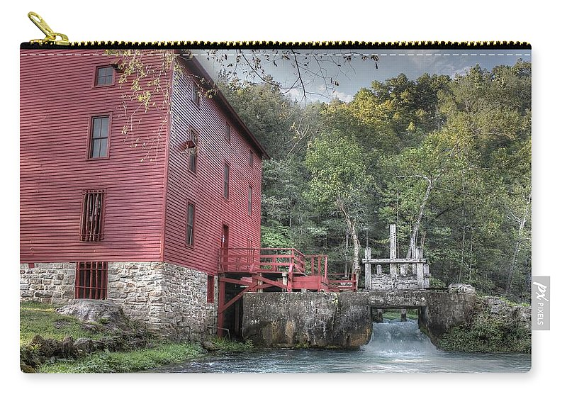 Alley Spring Carry-all Pouch featuring the photograph Alley Spring Mill Ozark National Scenic Riverway by Jane Linders