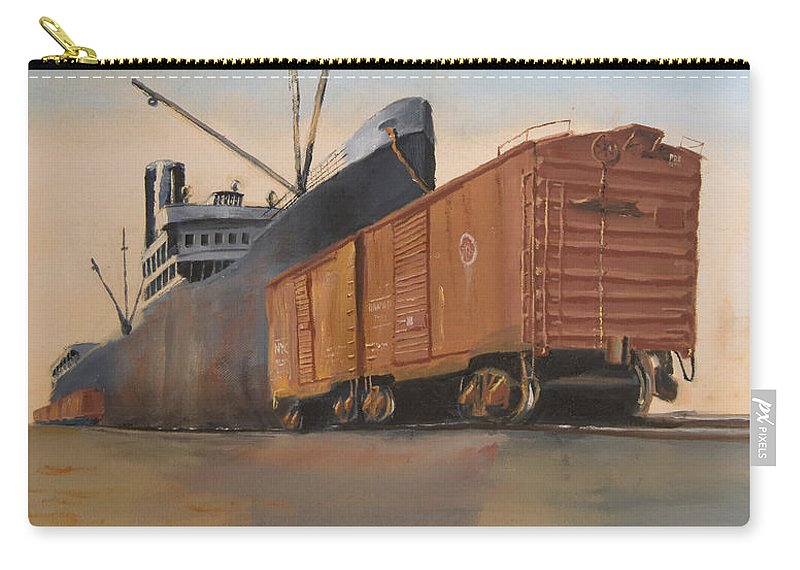 Ship Carry-all Pouch featuring the painting Allied Orient Lines by Christopher Jenkins