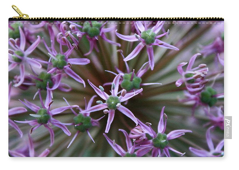 Nature Macro Carry-all Pouch featuring the photograph Allium Macro by Carol Groenen