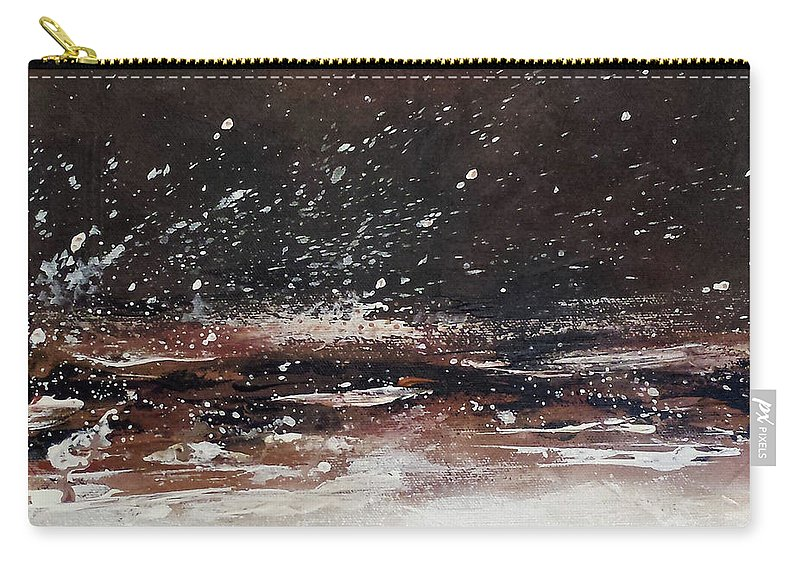 Abstract Energy Earth Tones Carry-all Pouch featuring the painting Allosteric Transition by Beth Waltz