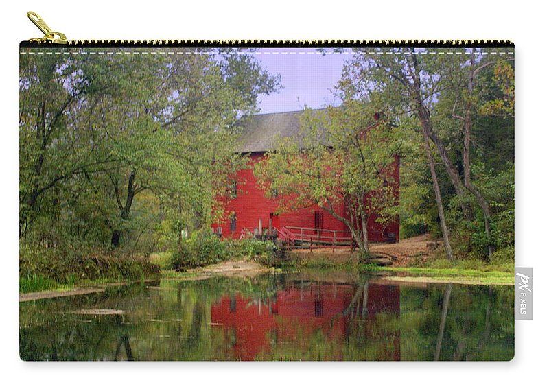 Alley Spring Carry-all Pouch featuring the photograph Allsy Sprng Mill 2 by Marty Koch