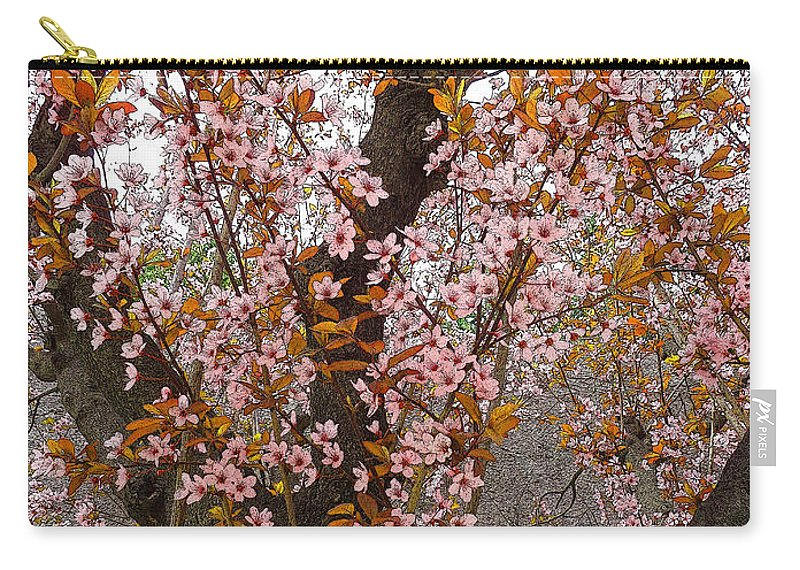 Almonds Carry-all Pouch featuring the photograph Almond Tree Flowers 05 by Don Pedro DE GRACIA