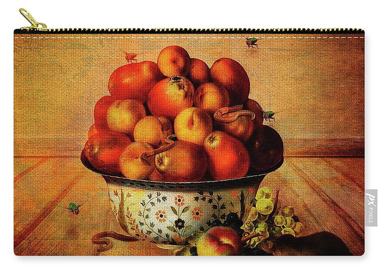 Still Life Carry-all Pouch featuring the digital art Almost A Still Life by Terry Fleckney