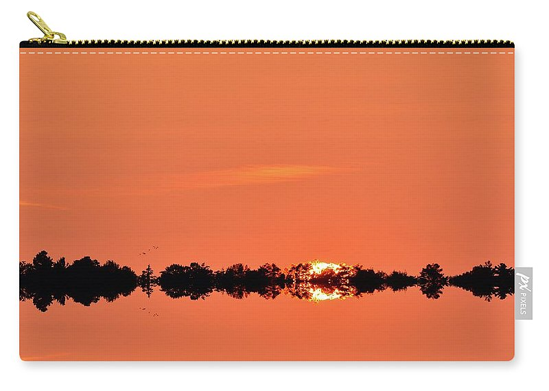Abstract Carry-all Pouch featuring the digital art Almost Below The Horizon Two by Lyle Crump