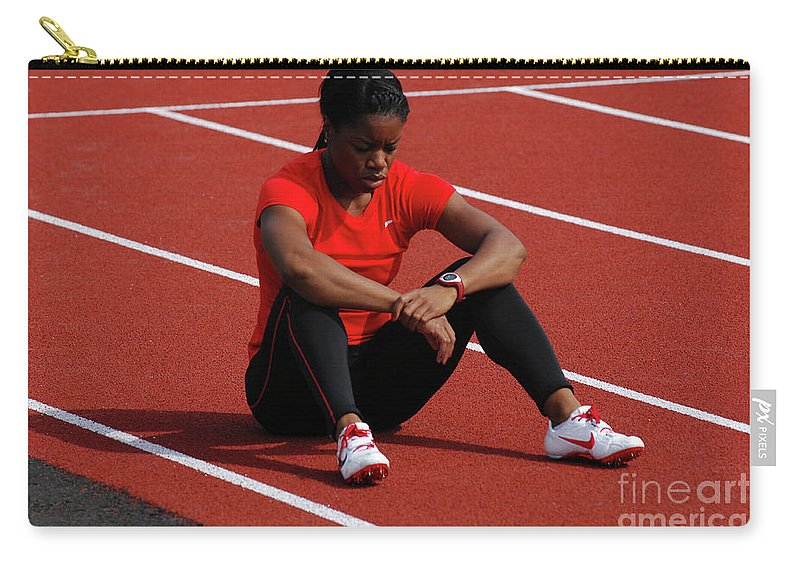 Canadian Track And Field National Championships 2011 Carry-all Pouch featuring the photograph Almost Ready by Bob Christopher