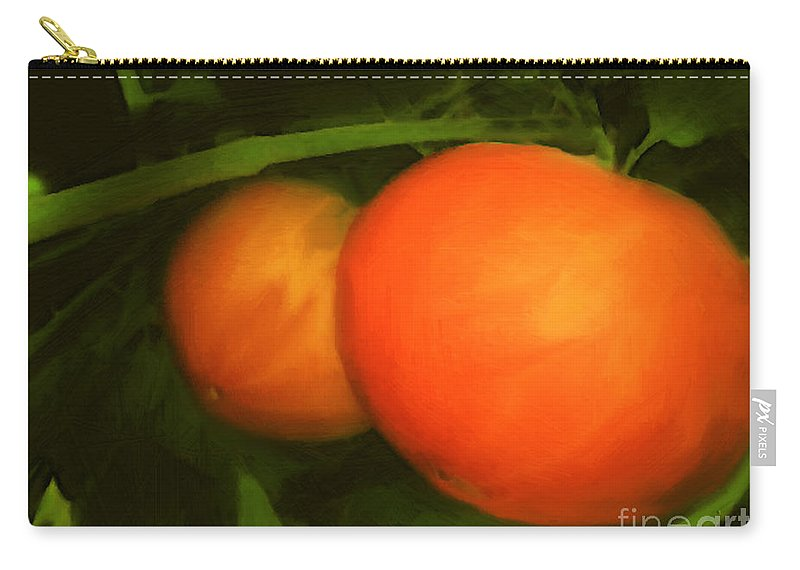 Red Carry-all Pouch featuring the painting Almost Ready by RC DeWinter