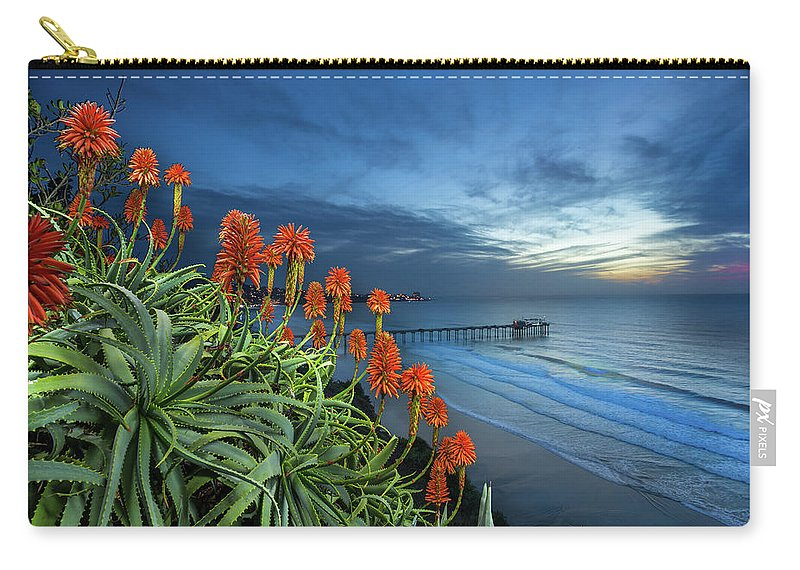 Green Carry-all Pouch featuring the photograph Aloe Vera Bloom by Creigh Photography