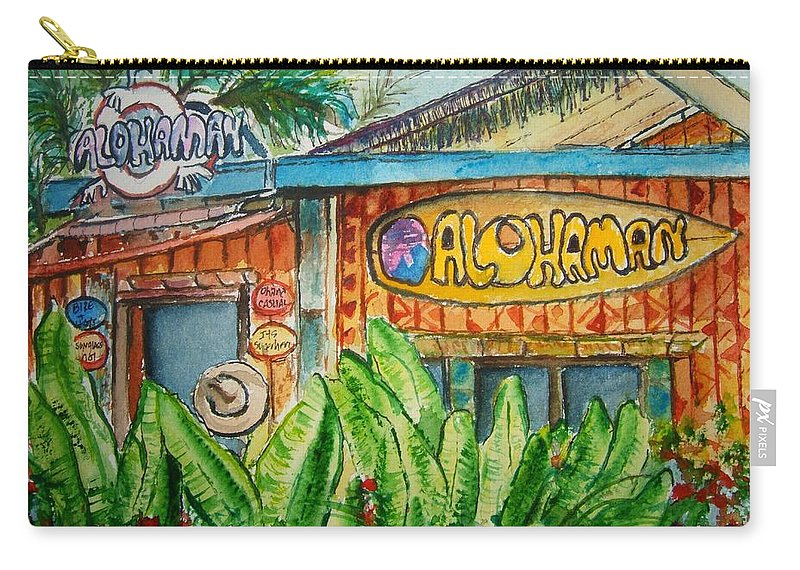 Aloha Carry-all Pouch featuring the painting Alohaman by Elaine Duras