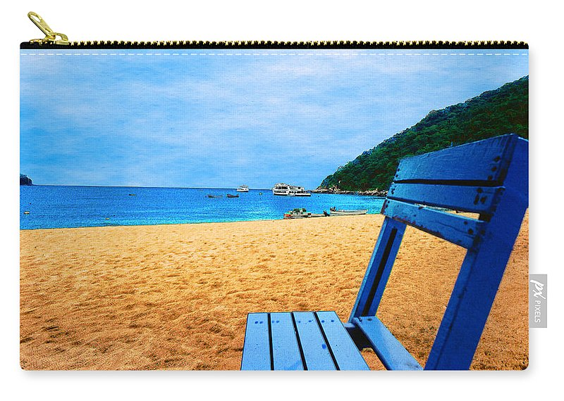 Alone Carry-all Pouch featuring the photograph Alone And Blue by Paul Wear