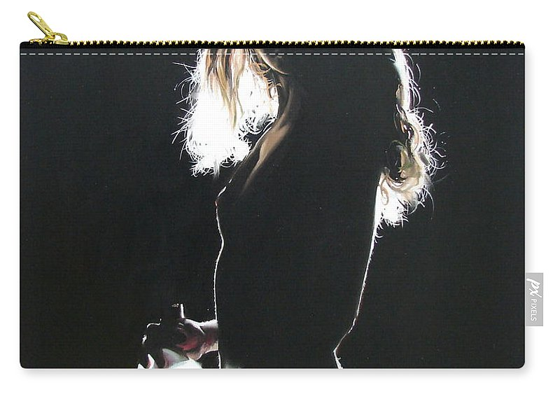 Ignatenko Carry-all Pouch featuring the painting Alone At Home2 by Sergey Ignatenko