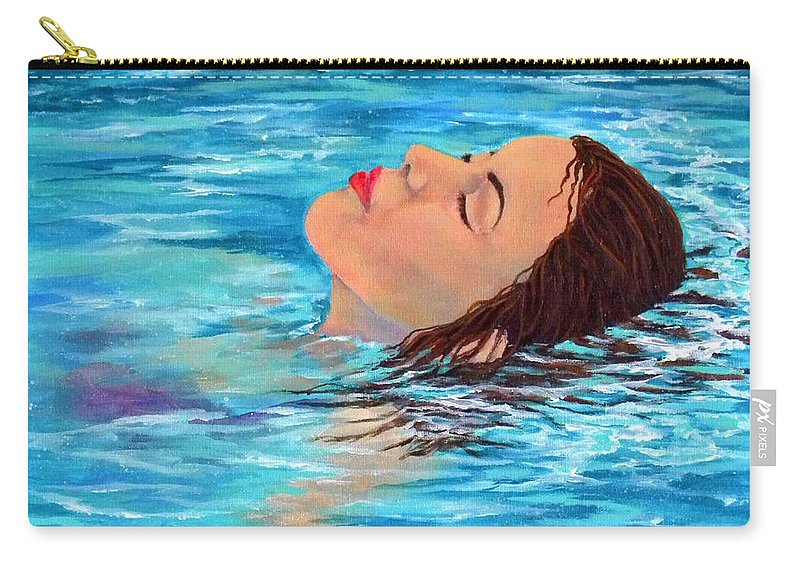 Water Carry-all Pouch featuring the painting Alone At Last by Trisha Calabrese