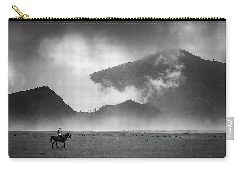 Carry-all Pouch featuring the photograph Alone by Dika yudha rio p