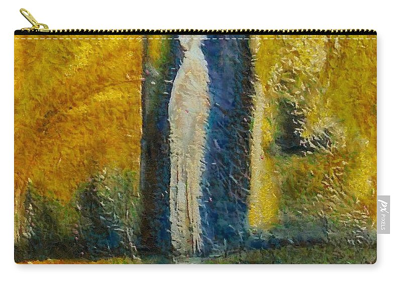 Mixed Media Carry-all Pouch featuring the mixed media Alone by Dragica Micki Fortuna