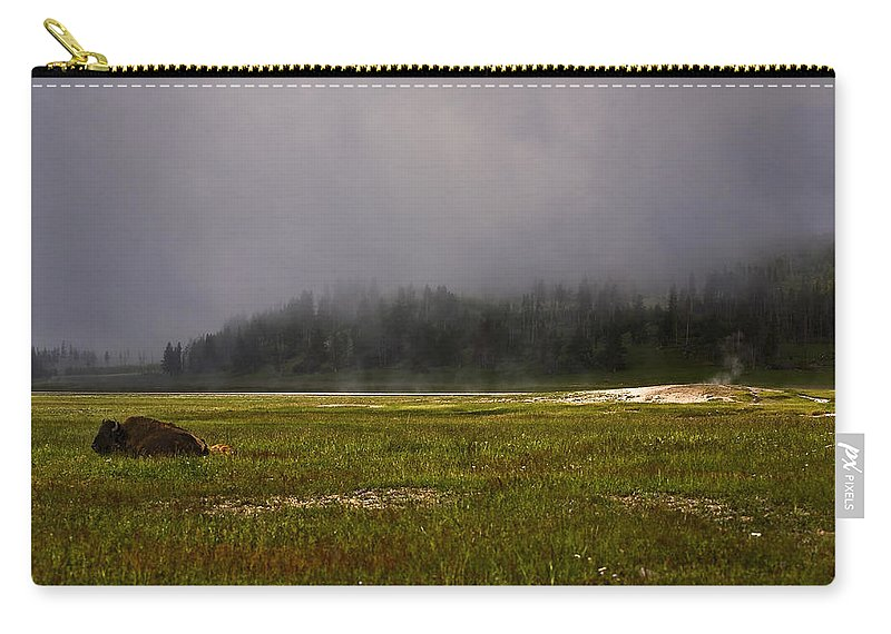 Nature Carry-all Pouch featuring the photograph Alone In Fog by John K Sampson