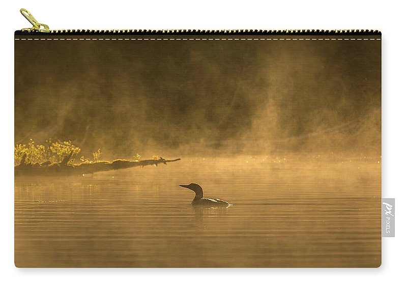 Canada Carry-all Pouch featuring the photograph Alone In The Morning Fog by Yves Keroack