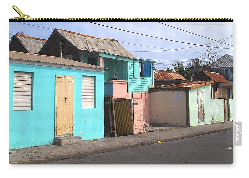 St Kitts Carry-all Pouch featuring the photograph Along Bay Road by Ian MacDonald