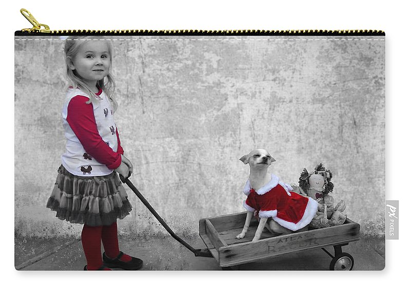 Carry-all Pouch featuring the photograph Along For The Ride by Jean Hildebrant