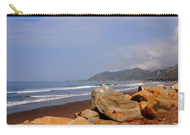 West Coast Carry-all Pouch featuring the photograph Along The Californian Coast by Susanne Van Hulst